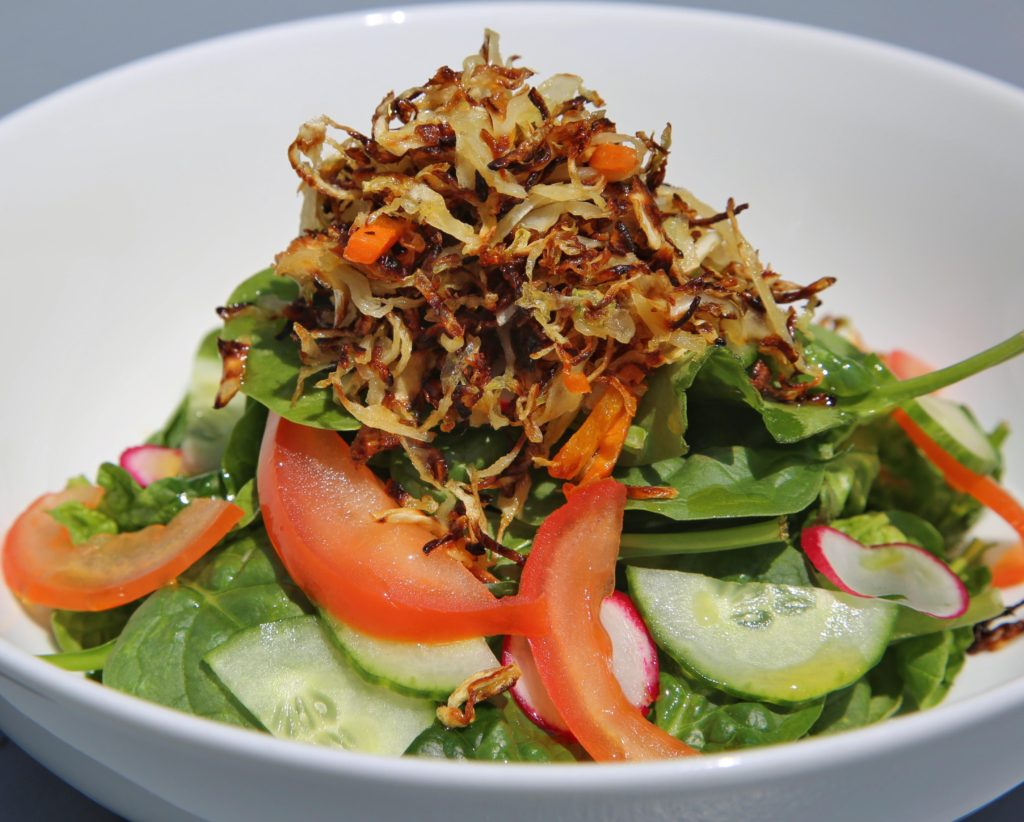 Salad with Fried Cabbage